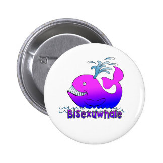 Bisexuwhale 6 Cm Round Badge