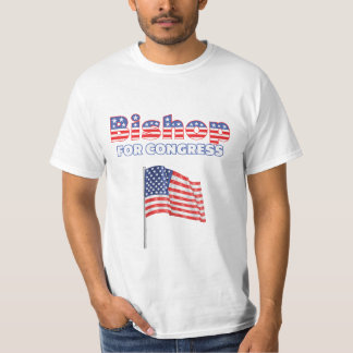 Bishop for Congress Patriotic American Flag T-Shirt