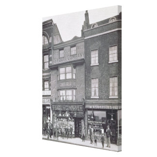 Bishopsgate, from 'Historic London Buildings' by A Canvas Print