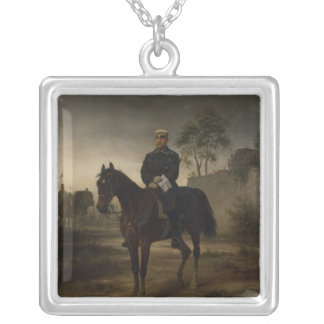 Bismarck before Paris, 1873 Silver Plated Necklace