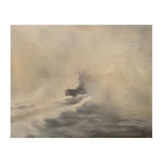 Bismarck evades her persuers May 25th 1941. 2005 Wood Print