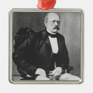 Bismarck in 1870 before the Declaration of War Silver-Colored Square Decoration