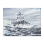 Bismarck off Greenland coast 1900hrs 23rdMay Stretched Canvas Print