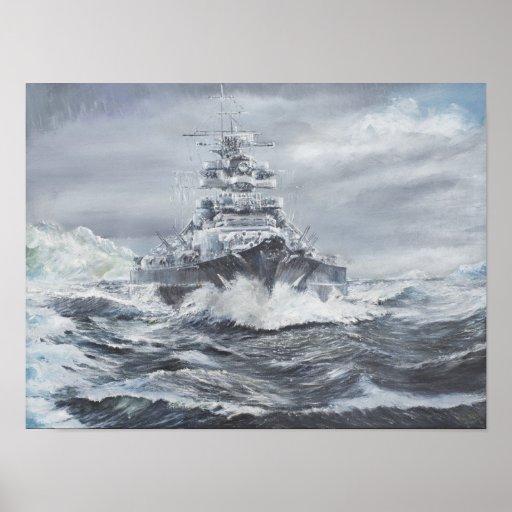 Bismarck off Greenland coast 1900hrs 23rdMay Poster