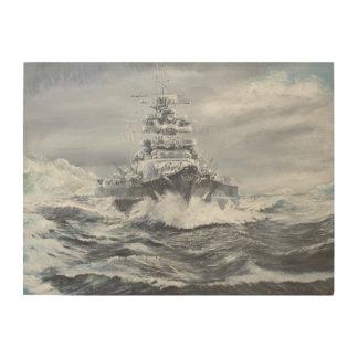 Bismarck off Greenland coast 1900hrs 23rdMay Wood Wall Art