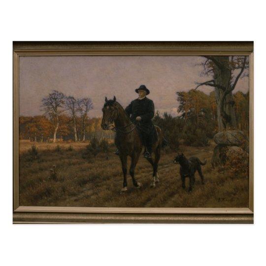 Bismarck on Horseback with Dog Postcard