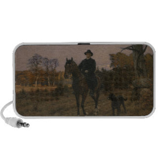 Bismarck on Horseback with Dog Travelling Speaker