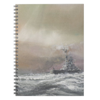Bismarck signals Prinz Eugen 0959hrs 24th May Notebooks