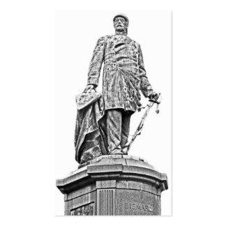 Bismarck Statue, Berlin,Full White Back, B & W (1) Pack Of Standard Business Cards
