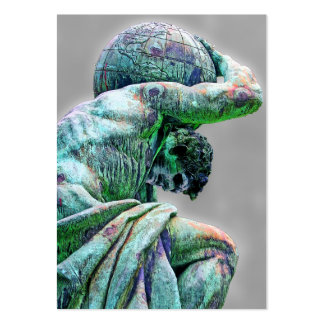 Bismarck Statue, Berlin, Greek God Atlas (5cpst) Pack Of Chubby Business Cards