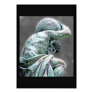 Bismarck Statue, Berlin, Greek God Atlas, Grey Bac Card