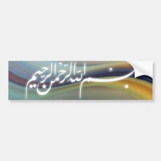Bismillah calligraphy sticker bumper sticker