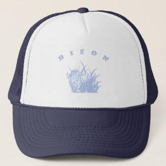 BISON - American Buffalo Lite Blue Graphic Trucker Hat