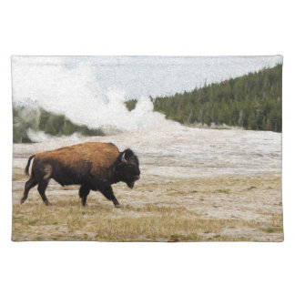 Bison and Old Faithful Placemat