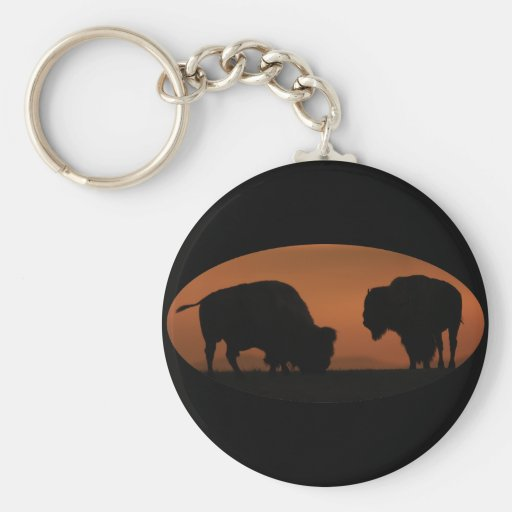 bison basic round button key ring