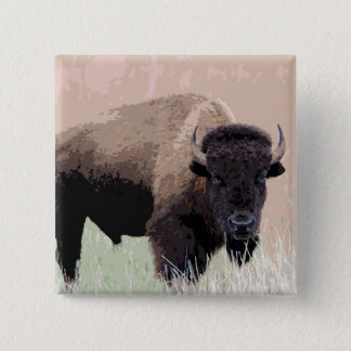 Bison / Buffalo 15 Cm Square Badge