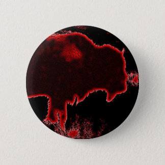 Bison / Buffalo 6 Cm Round Badge