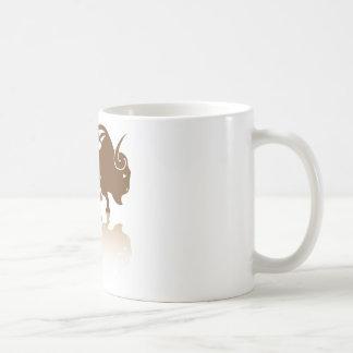 Bison Buffalo vector Basic White Mug