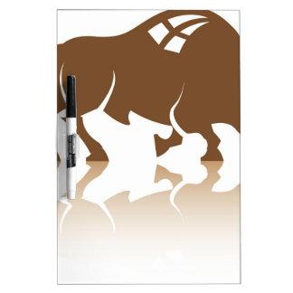 Bison Buffalo vector Dry Erase Boards