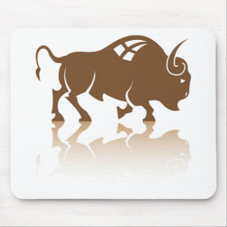 Bison Buffalo vector Mouse Pad