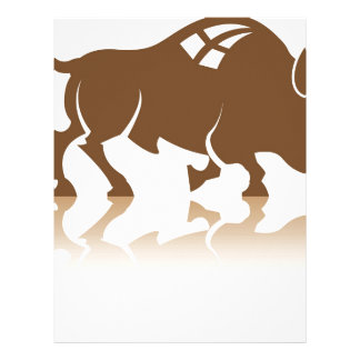 Bison Buffalo vector Personalised Letterhead