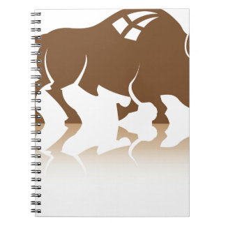 Bison Buffalo vector Spiral Notebooks