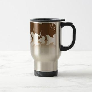 Bison Buffalo vector Stainless Steel Travel Mug