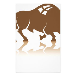 Bison Buffalo vector Stationery Paper