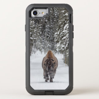 Bison in Snow Photo OtterBox Defender iPhone 8/7 Case
