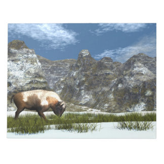 Bison in the mountain notepad