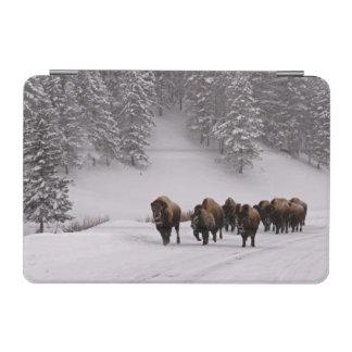 Bison in Winter iPad Mini Cover