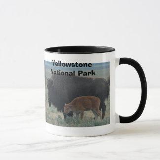 Bison, landscape, Yellowstone National Park Mug