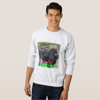 Bison Licking Testicles Ugly Christmas Sweater