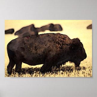 Bison Poster Digital Pop Art