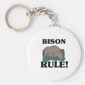 BISON Rule! Basic Round Button Key Ring