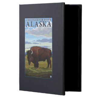 Bison Scene - Chitina River Basin, Alaska Cover For iPad Air