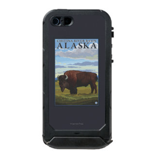 Bison Scene - Chitina River Basin, Alaska Incipio ATLAS ID™ iPhone 5 Case