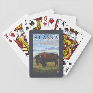 Bison Scene - Chitina River Basin, Alaska Poker Deck
