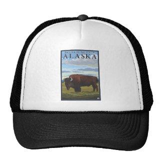 Bison Scene - Delta Junction, Alaska Hat