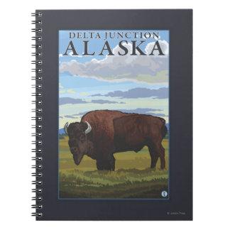 Bison Scene - Delta Junction, Alaska Notebooks