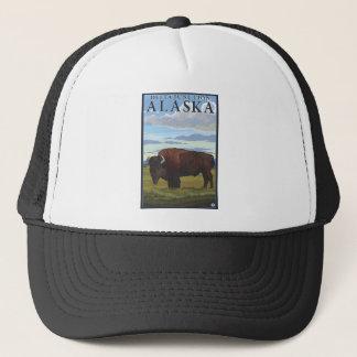 Bison Scene - Delta Junction, Alaska Trucker Hat