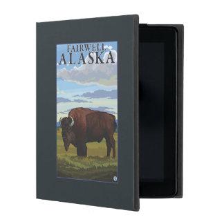 Bison Scene - Fairwell, Alaska iPad Case