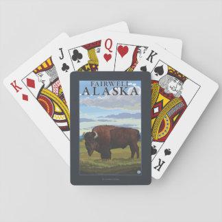 Bison Scene - Fairwell, Alaska Playing Cards