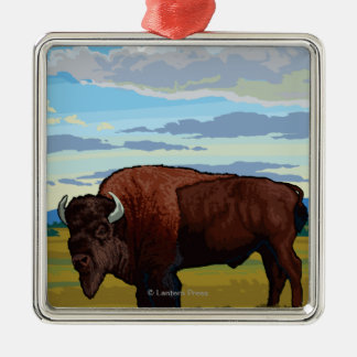 Bison Scene - Glacier National Park, MT Christmas Ornament