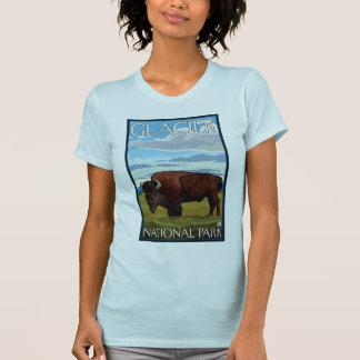 Bison Scene - Glacier National Park, MT T-Shirt