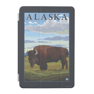 Bison Scene- Vintage Travel Poster iPad Mini Cover