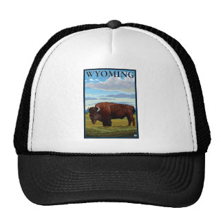 Bison Scene - Wyoming Mesh Hat