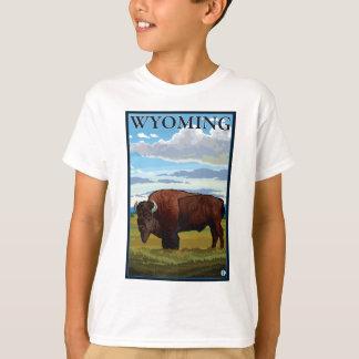 Bison Scene - Wyoming T-Shirt