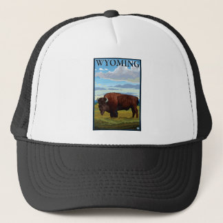 Bison Scene - Wyoming Trucker Hat