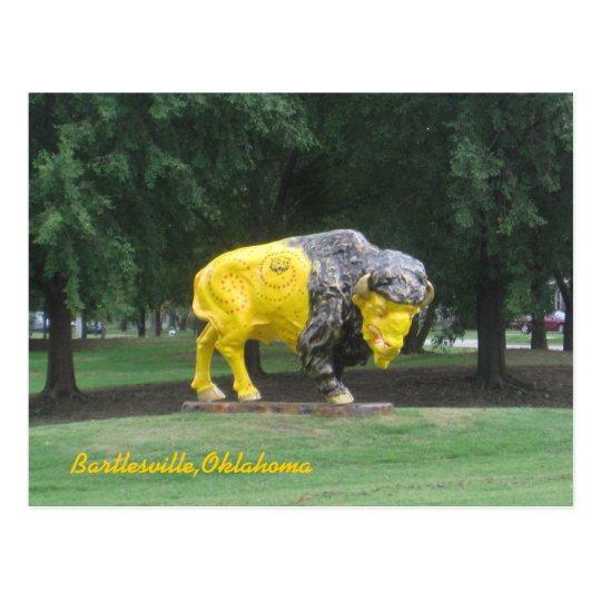 Bison Statue Postcard